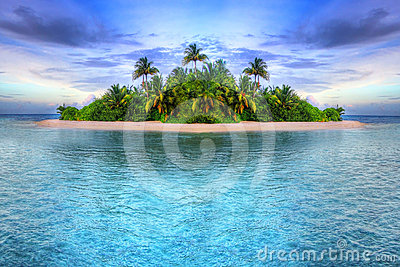 Tropical island of Maldives