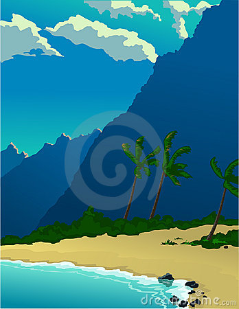 Tropical Island Mountains