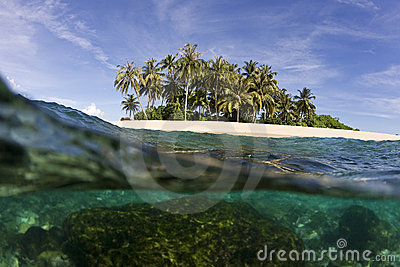 Tropical Island And Ocean Stock Images - Image: 13182214