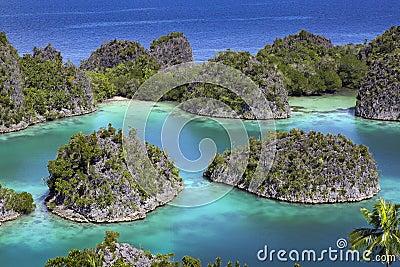 Tropical island paradise Raja Ampat