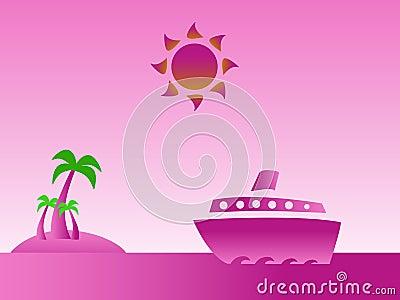 Tropical island pink