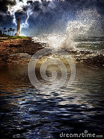 Tropical Island Storm