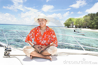 Tropical island vacation