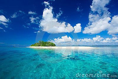 Tropical island vacation paradise