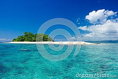 Tropical island vacation paradise