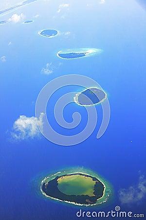 Tropical islands in Maldives