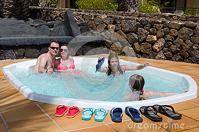 Tropical jacuzzi for whole family