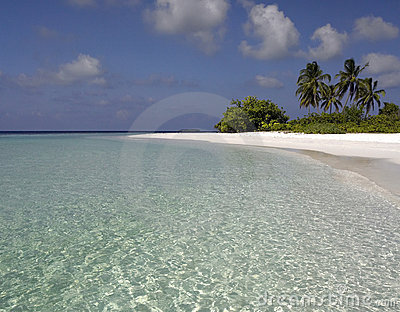 Tropical lagoon in the Maldives