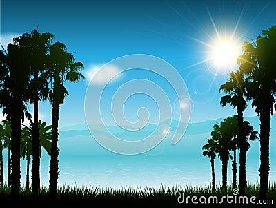 Tropical landscape background