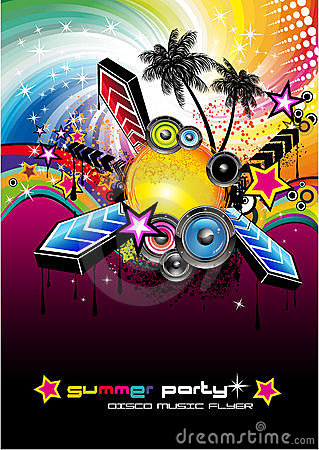 Tropical Latin Musical Event Background