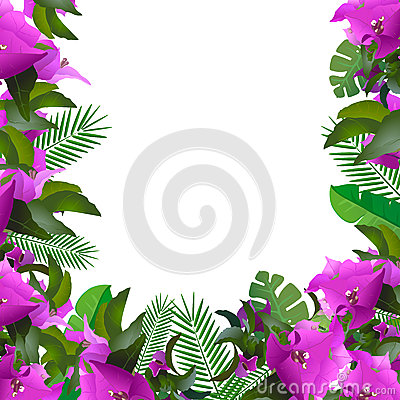 Free Tropical Leaves. Floral Design Background Royalty Free Stock Photography - 61403577