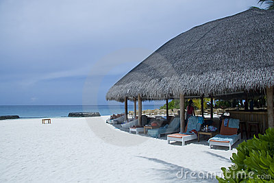 Tropical Maldives resort
