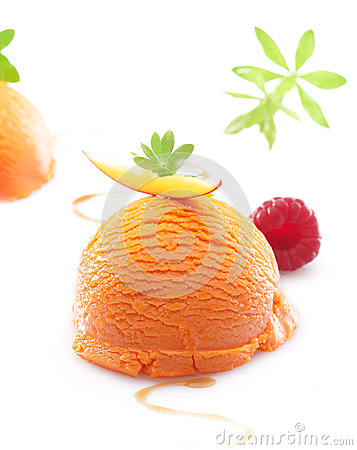 Tropical mango icecream dessert