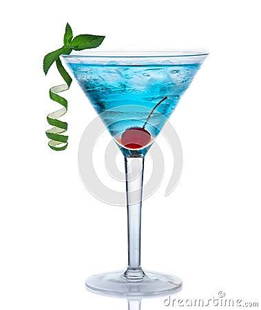 Free Tropical Martini Cosmopolitan Cocktail Or Blue Hawaiian Royalty Free Stock Photo - 31595125