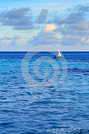 Free Tropical Morning Seascape In Maldives Stock Images - 63114954
