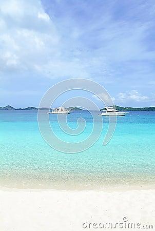 Tropical Ocean White Sand Beach
