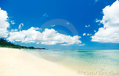 Tropical Okinawa beach