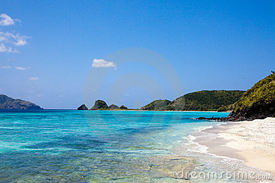Tropical paradise beach of Okinawa