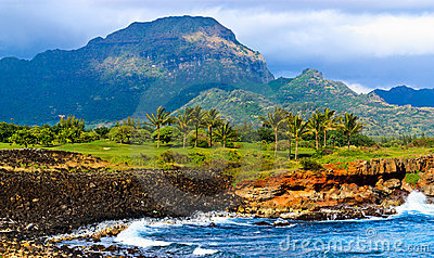 Tropical paradise, garden island, Kauai Hawaii