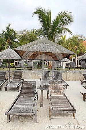 Tropical paradise huts