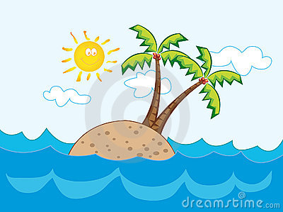 Tropical Paradise Island Royalty Free Stock Photo