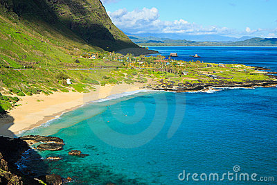Tropical paradise, Makapuu beach, Oahu Hawaii