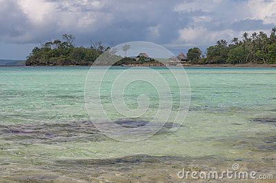 Tropical Paradise Polynesian Beach Ocean Sea Crystal Water Clear Sand