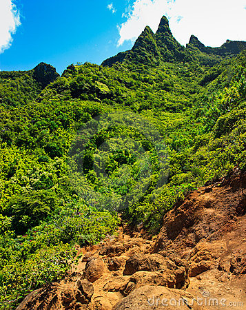 Tropical paradise view, Kalalau trail, Kauai