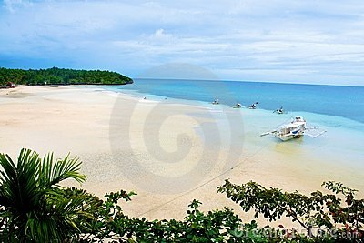 Tropical Philippines beach