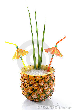 Free Tropical Pineapple Drink 1 Royalty Free Stock Images - 432919