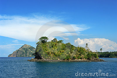 Tropical pristine island