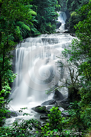 Free Tropical Rain Forest Landscape With Sirithan Waterfall. Thailand Stock Photography - 41024012