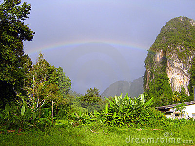 Tropical Rainbow over Krabi, Thailand