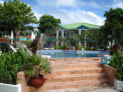 Tropical Resort At Ambergris Caye Stock Images - Image: 9923734