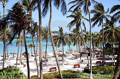 Tropical resort Aruba Island, Caribbean