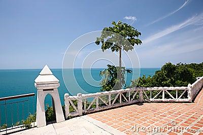 Tropical resort balcony