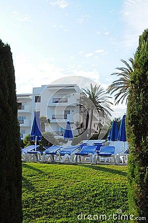 Tropical resort hotel, Cala d Or, Mallorca