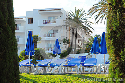 Tropical resort hotel, Cala d Or, Mallorca