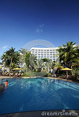 Free Tropical Resort Hotel Swimming Pool Royalty Free Stock Image - 5932596