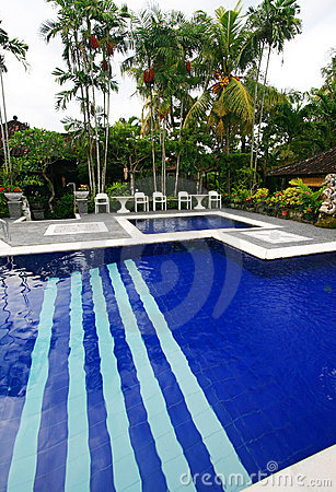 Tropical resort hotel swimming pool