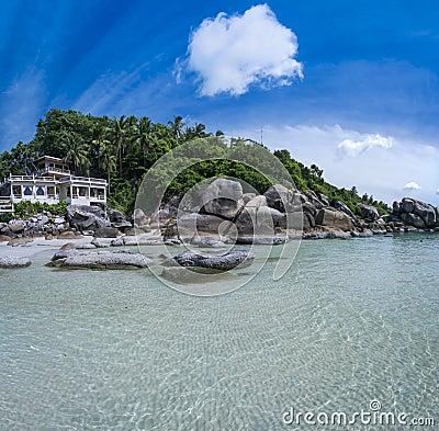 Tropical resort ko samui beach thailand