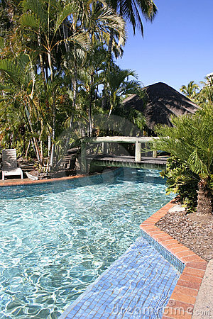 Tropical Resort pool, Queensland, Australia