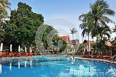 Tropical resort in thai style.