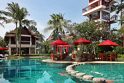 Tropical resort in thai style.
