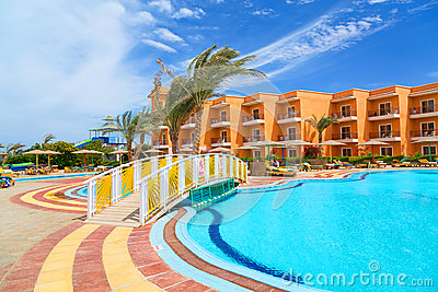 Tropical resort Three Corners Sunny Beach in Hurgh Editorial Stock Photo