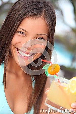 Tropical resort woman
