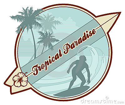 Tropical retro-surf
