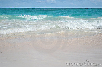 Tropical Sand Beach and Ocean Background