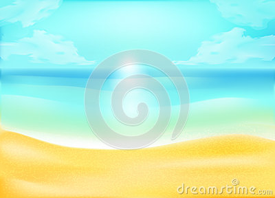 Tropical sand and ocean beach background