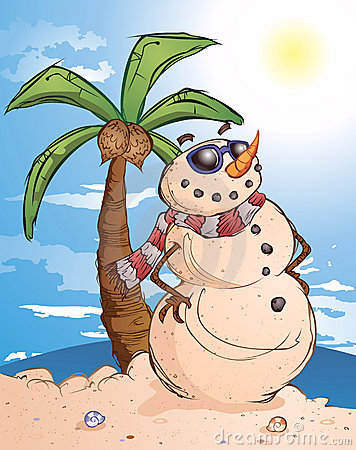 Tropical Sand Snow Man